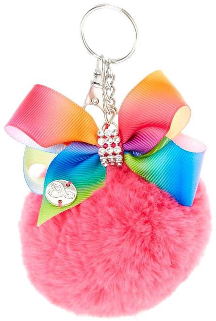 Nickelodeon JoJo Siwa Pink Pom Pom with Rainbow Bow Keychain