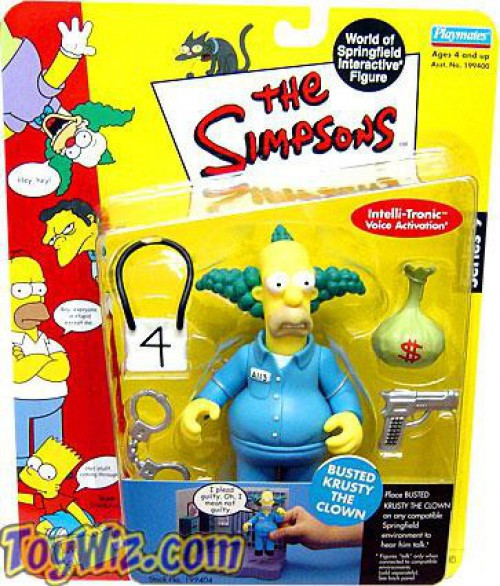 The Simpsons Series 9 Krusty the Klown Action Figure [Busted]
