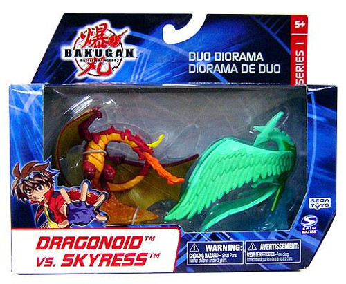Bakugan Battle Brawlers Duo Diorama Series 1 Dragonoid vs. Skyress Mini Figure 2-Pack