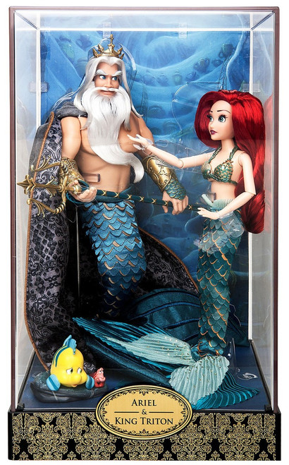 The Little Mermaid Disney Fairytale Designer Collection Ariel & Triton Exclusive 11.5-Inch Doll Set