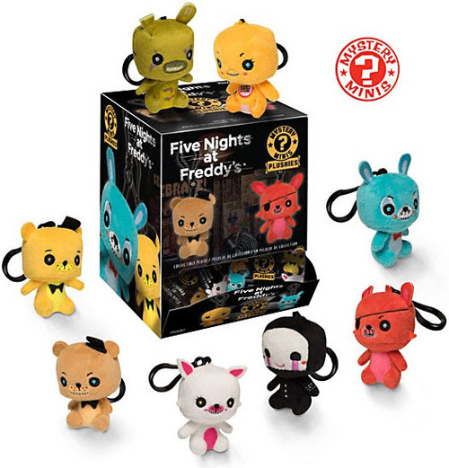 Funko Mystery Minis Plush Keychains Five Nights at Freddy's 2.5-Inch Mystery Box [18 Packs]