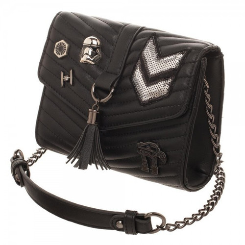 Star Wars Dark Side Quilted Crossbody Bag with Tassel