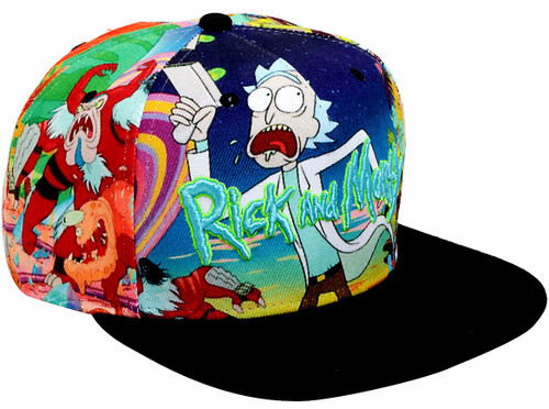 Rick & Morty Allover Sublimation Snapback Hat