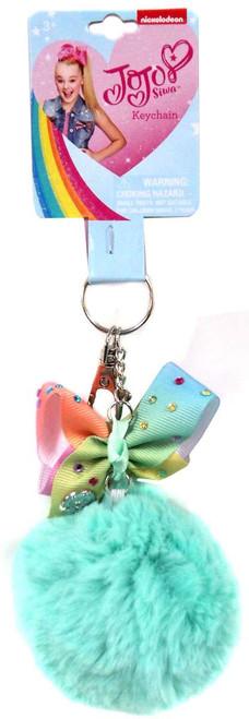 Nickelodeon JoJo Siwa Mint Pom Pom with Pastel Bow Keychain