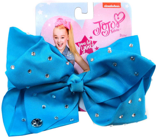 Nickelodeon JoJo Siwa Large Blue Bow with Rhinestones