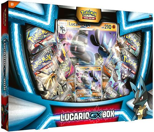 Pokemon Trading Card Game Lucario GX Box [4 Booster Packs, Promo Card & Oversize Card]