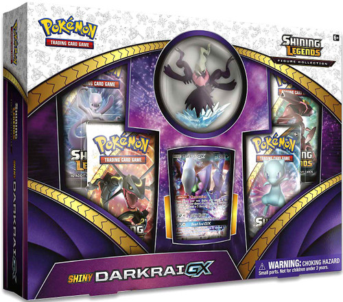 Pokemon Trading Card Game Shining Legends Shiny Darkrai GX Figure Collection [4 Booster Packs, Figure & Promo Card!]