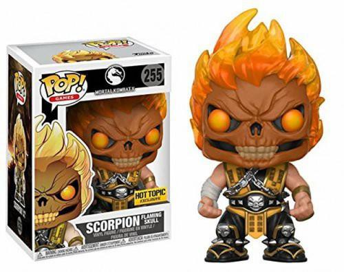 Funko Mortal Kombat POP! Games Scorpion Exclusive Vinyl Figure #255 [Flaming Skull]