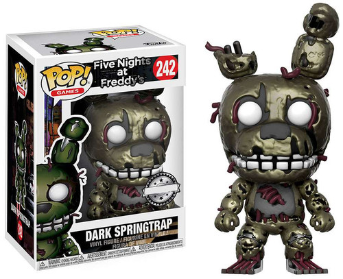 Funko Five Nights at Freddy's POP! Games Dark Springtrap Exclusive Vinyl Figure #242