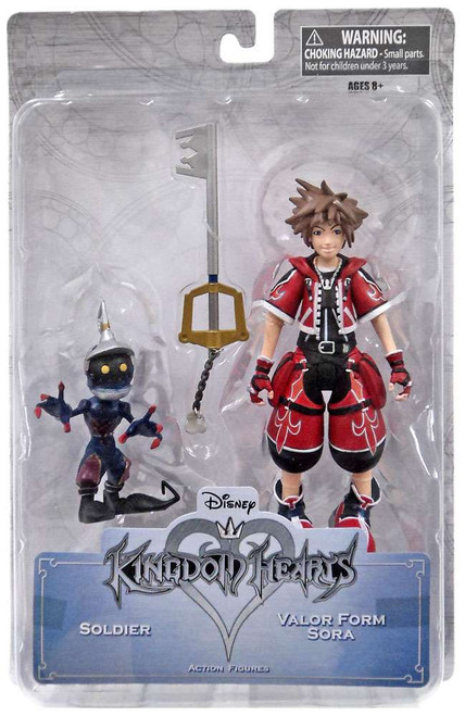 Disney Kingdom Hearts Valor Form Sora & Soldier Exclusive Action Figure 2-Pack