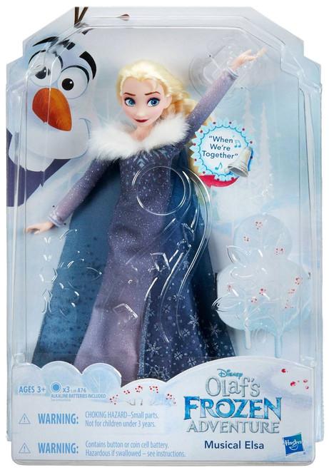Disney Frozen Olaf's Frozen Adventure Musical Elsa 11.5-Inch Doll [Singing]