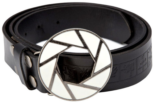 Portal 2 Aperture 80's Logo Leather Belt [LG/XL]