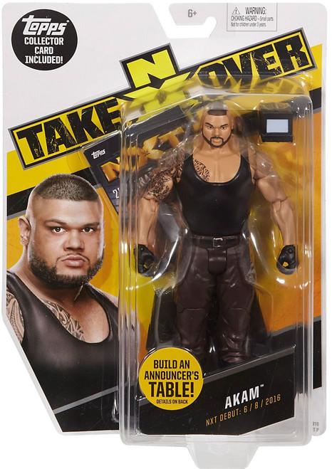 WWE Wrestling NXT Takeover Akam Exclusive Action Figure