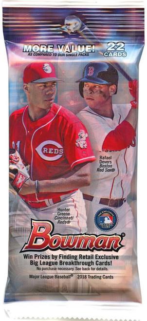 MLB Topps 2018 Bowman Baseball Trading Card VALUE Pack [22 Cards]