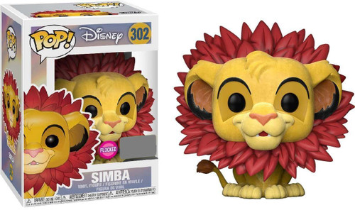 Funko The Lion King POP! Disney Simba Exclusive Vinyl Figure #302 [Leaf Mane, Flocked]