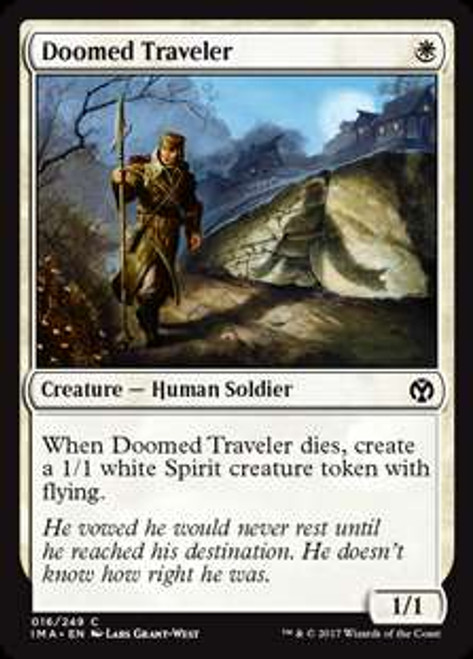 MtG Iconic Masters Common Doomed Traveler #16