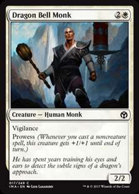 MtG Iconic Masters Common Dragon Bell Monk #17