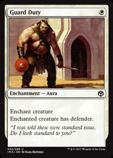 MtG Iconic Masters Common Guard Duty #22