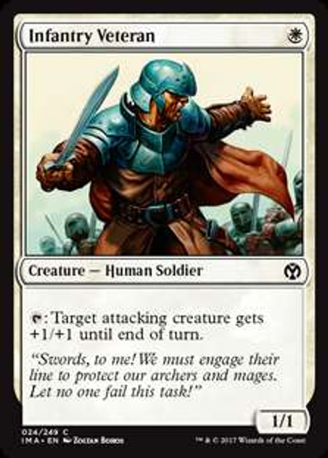 MtG Iconic Masters Common Infantry Veteran #24