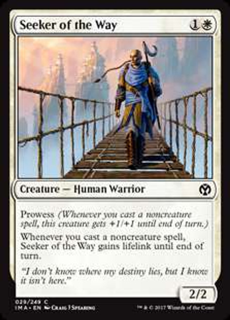MtG Iconic Masters Common Foil Seeker of the Way #29