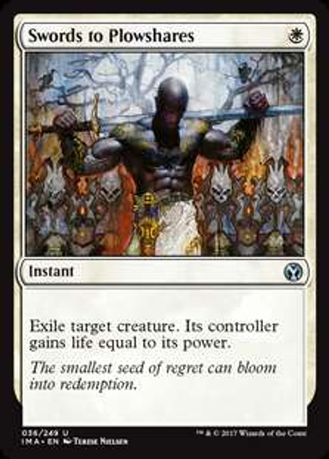 MtG Iconic Masters Uncommon Foil Swords to Plowshares #36