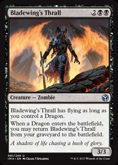 MtG Iconic Masters Uncommon Foil Bladewing's Thrall #81