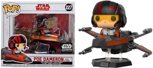 Funko POP! Star Wars Poe Dameron with X-Wing Exclusive Vinyl Bobble Head [The Last Jedi]