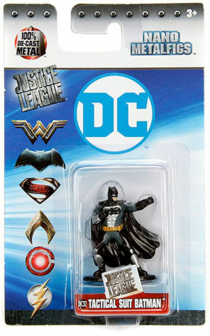DC Justice League Nano Metalfigs Tactical Suit Batman 1.5-Inch Diecast Figure