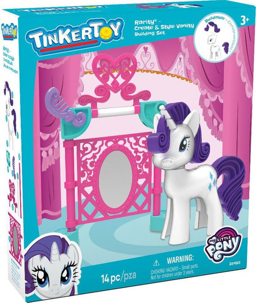 K'NEX Tinker Toy My Little Pony Rarity Create & Style Vanity Set #28438