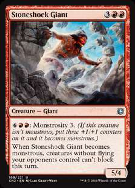 MtG Conspiracy: Take the Crown Uncommon Foil Stoneshock Giant #169