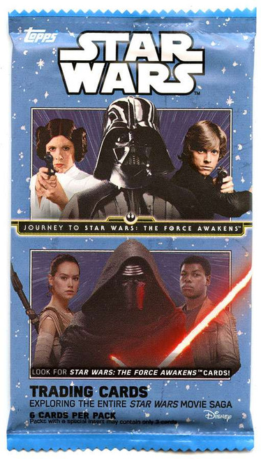 Star Wars Journey To The Force Awakens Trading Card RETAIL Pack [6 Cards!]