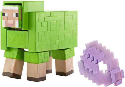Minecraft Survival Mode Shearable Sheep Action Figure [Green]