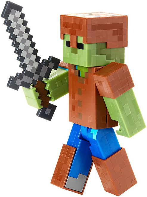 Minecraft Survival Mode Zombie in Armor Action Figure