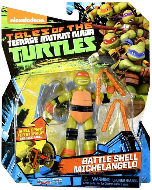 Teenage Mutant Ninja Turtles Tales of the TMNT Battle Shell Michelangelo Action Figure