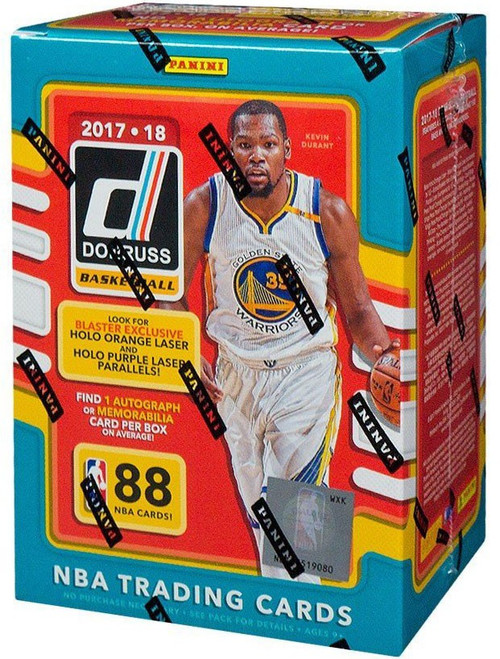 NBA Panini 2017-18 Donruss Basketball Trading Card BLASTER Box [11 Packs, 1 Autograph OR Memorabilia Card]
