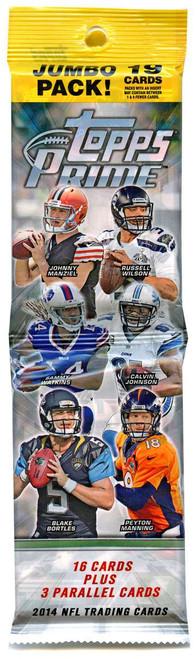 NFL Topps 2014 Prime Football Trading Card JUMBO Pack [19 Cards!]