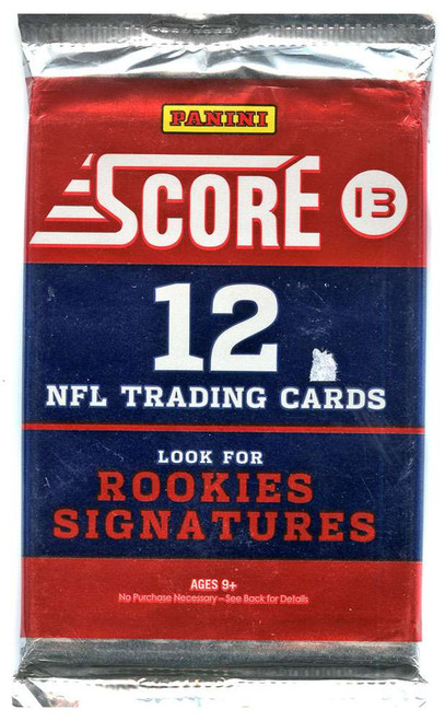 NFL Panini 2013 Score Football Trading Card Pack [12 Cards!]