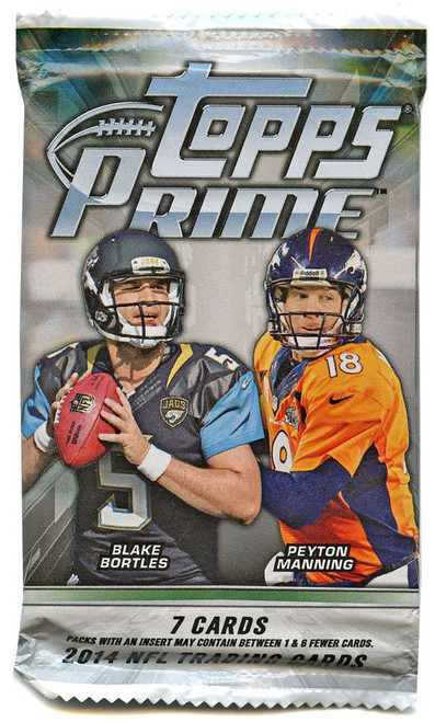 NFL Topps 2014 Prime Football Trading Card Pack [7 Cards]