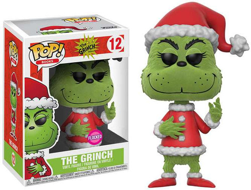 Funko Dr. Seuss POP! Books The Grinch Exclusive Vinyl Figure #12 [Flocked]