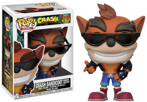 Funko POP! Games Crash Bandicoot Exclusive Vinyl Figure #275 [Biker Outfit]