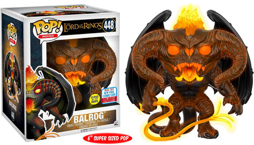 Funko Lord of the Rings POP! Movies Balrog Exclusive 6-Inch Vinyl Figure [Super-Sized, Glow-in-the-Dark]