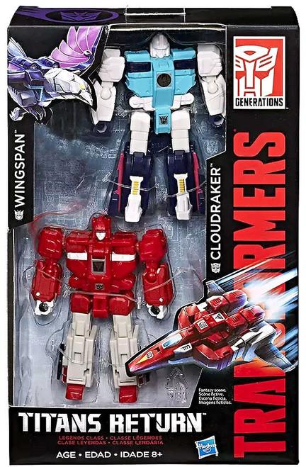 Transformers Generations Titans Return Wingspan & Cloudraker Exclusive Legend Action Figure 2-Pack