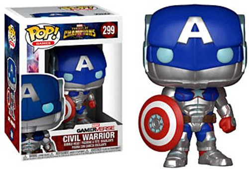 Funko Contest of Champions POP! Marvel Civil Warrior Vinyl Bobble Head #299