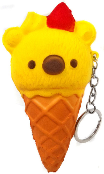 Nom!Nom!Nom! Squizzy Kawaii Squishies Bear Ice Cream Cone Keychain [RANDOM Color]