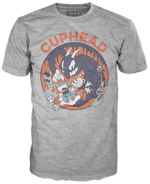 Funko Cuphead, Mugman & The Devil T-Shirt [Large]