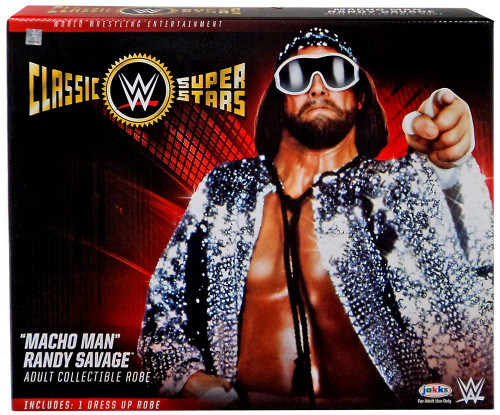 """WWE Wrestling Classic Superstars Costumes """"Macho Man"""" Randy Savage Adult Collectible Dress Up Robe"""