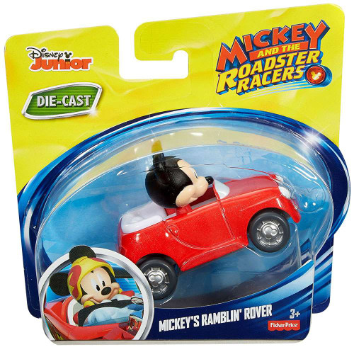 Fisher Price Disney Mickey & Roadster Racers Mickey's Ramblin' Rover Diecast Vehicle