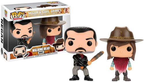 Funko The Walking Dead POP! TV Negan & Carl Grimes Exclusive Vinyl Figure 2-Pack