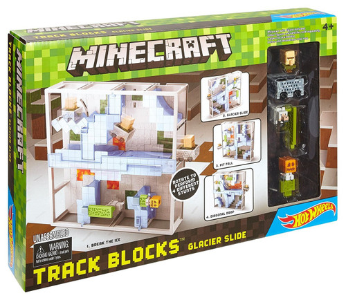 Minecraft Hot Wheels Track Blocks Glacier Slide Set
