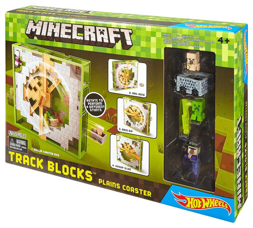 Minecraft Hot Wheels Track Blocks Plains Coaster Set
